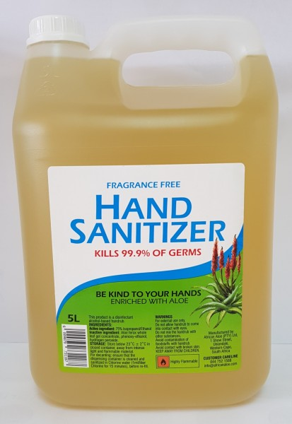 HAND SANITISER (75%) with Aloe 5L (2/box)
