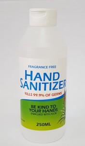 Empty Labelled Hand-sanitiser Bottle with Flip-top 250ml